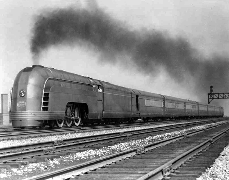 1936 Henry Dreyfuss New York Central Railroad Streamlined Mercury Train